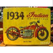 アメリカンブリキ看板 インディアン 1934