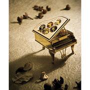 【CRYSTOCRAFT】ピアノ ゴールド スワロフスキー 音楽雑貨