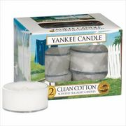 YANKEE CANDLE YANKEE CANDLE クリアカップティーライト12個入り 「 クリーンコットン 」