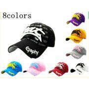 キャップ 帽子 ハンチング 野球帽子 男女兼用 ポップな英字 サイズ調整可