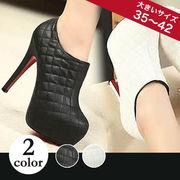 【即納】ショートブーツ/ブーティ全2色★qqydb5-0676-1【自社工場】靴/美脚/レディース