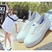 ファッション スニーカー 黒?白 超軽量エスパドリーユ 靴 スリッポン
