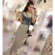 【初回送料無料】ファッション2枚セットワンピ●グレー/ブラック2色◇too-bl6836-218