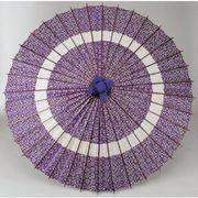 和傘-蛇の目傘 花輪青 (装飾用)日傘