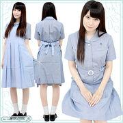 ■送料無料■大阪信愛女学院高校 盛夏服ワンピース 校内着セット サイズ:M/BIG