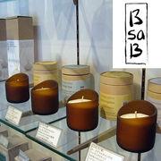 B sa B 100% エッセンシャルオイル ソイキャンドル Essential Oil Soy Candle グラス ビーサビー BsaB