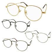 SALE!!【TY802】ボストンタイプ★メタル伊達メガネ【4色展開♪♪】 丸メガネ/眼鏡/まんまる/まるめがね