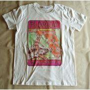 フロリダ サーフトリップマッププリント Tシャツ