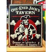 アメリカンブリキ看板 一つ目海賊ジャック