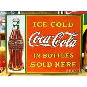 アメリカンブリキ看板 コカ・コーラ ボトルで売ってます
