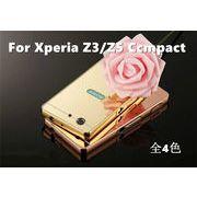 SONY Xperia Z3 Compact用ケース 金属フレーム PMMA 鏡面