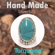 リング / TQ-R129  ◆ Silver925 シルバー ハンドメイド リング ターコイズ 19号
