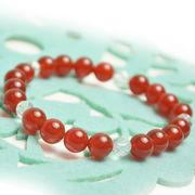 天然石 パワーストーン 赤瑪瑙  水晶ブレスレット 五芒星