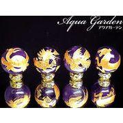 職人手彫りの本格派!風水 金彫四神獣彫刻アメジスト(紫水晶)10ミリ→大粒16ミリ
