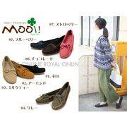 S) 【Mooi! Feminine】 本革スウェード モカシンシューズ 全7色