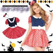 Let'sハロウィンパーティー!!ミニーマウス風ワンピース*ハロウィン コスプレ 衣装