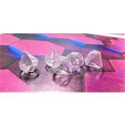 【夏アクセサリー】 ガラスドーム ダイヤモンドの形 値下げ販売 30円⇒23円