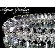 天然石◇ボタン水晶 【20面カット】 1連約40センチ