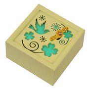 【 木製オルゴール (クローバー) ♪キセキ 】 【 木製Aメロディー 】