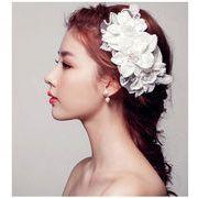 ヘッドドレス ウェディング ブライダル アクセサリー 真珠 パーティー 花嫁  髪飾り