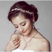 華やかなフラワーデザインの髪飾り アクセサリー結婚式 花嫁