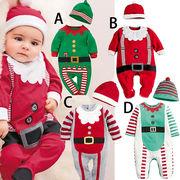 クリスマス★流行り新しいスタイル★ベビーロンパース ★ロンパース+帽子2点セット