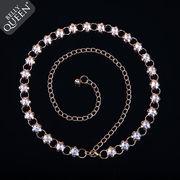 激安!!ベリーダンス衣装◆ベルト◆コスチューム◆人工宝石◆クリスタル◆花柄◆チェーン