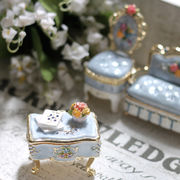 【限定SALE】宝石箱 ジュエリーボックス 【ミニチュア家具(ブルー)】