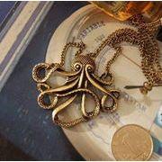 個性的なタコのネックレス オクトパス Octopus アクセサリー 蛸 海 ペンダント AC-127
