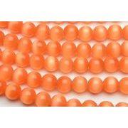 【キャッツアイ (オレンジ)】8mm 1連(約35cm)[R1674-8]