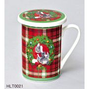 【ウインターフェアセール!】【クリスマス】【蓋付きマグカップ】ネコ雑貨