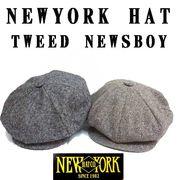★秋冬♪ NEWYORK HAT #9030 TWEED NEWSBOY 14115