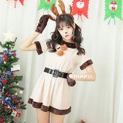 【即日出荷】トナカイ ベルト サンタコスチューム クリスマス コスプレ衣装【9204】