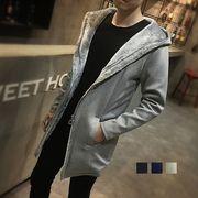 高品質コート メンズ 大きいサイズ アウター 無地 トレンチコート メンズ ロング丈 カジュアル 紳士