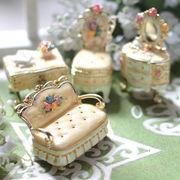 【限定SALE】宝石箱 ジュエリーボックス 【 ミニチュア家具シリーズ (イエロー) 】