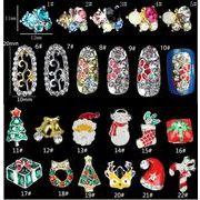diyネイル用品 クリスマス 金製品 ネール雑貨 3D立体シール 合金/ネイルチップ