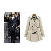 欧米風トレンチコート レディース 秋コート 大きいサイズ アウター シンプル スプリングコート