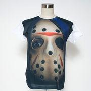 Gibage デザインTシャツ ジェイソンマスクの男