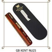 ◆英アソート対象商品◆英国製KENTメンズ 携帯ブラシ (革ケース & 爪やすり付) NU25