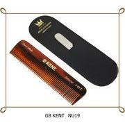 ◆英アソート対象商品◆英国製KENTメンズ 携帯ブラシ (革ケース & 爪やすり付) NU19