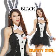 【即日出荷】黒 キラキラ バニーガール服 コスプレ衣装 ハロウィン【4193】