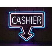 Arrow CASHIER アローキャッシャー (ネオン管 看板 アメリカン雑貨 ・NEON SIGN・ネオンサイン)
