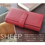 SHEEP羊革ソフトレザーロングアコーディオンウォレット 469Y