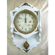 高級 壁掛け時計 振り子時計 エレガント ホワイト