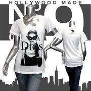 【HOLLYWOOD MADE】ハリウッドメイド★MISS PHANTOM MASK DT★No.9★フレアスリーブ★半袖Tシャツ ホワイト