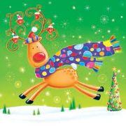 Daisy  ペーパーナプキン クリスマス ペンギン・トナカイ・マフラー