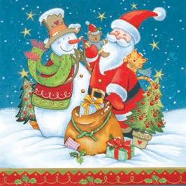 Daisy  ペーパーナプキン クリスマス サンタ・スノーマン