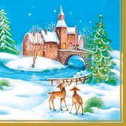 Daisy  ペーパーナプキン クリスマス 雪化粧×バンビ