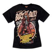 ★ROCK&PUNKファッションに最適!!★フルカラープリントでセクシーなロックガール半袖Tシャツ★