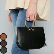 韓国 ファッション バッグ レディース リング 鞄 かばん ミニバッグ レザー 合皮